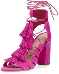 Loeffler Randall - Luz Suede Lace-up Sandal - Lyst
