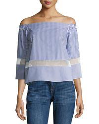 Waverly Grey | Milinda Off-the-shoulder Top | Lyst