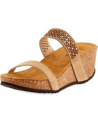 Neiman Marcus - Reece Two-band Wedge Sandal - Lyst