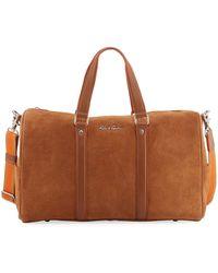 Robert Graham | Large Suede Travel Duffle Bag | Lyst