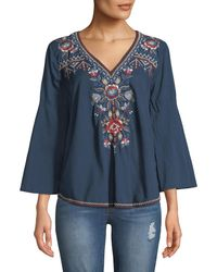 Johnny Was - Bohdi Embroidered Cotton Voile Swing Shirt - Lyst