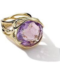 ippolita 18k large drizzle ring in amethyst lyst