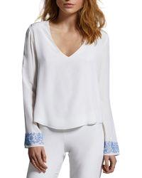 Anya Maj - Emiyo Silk Floral Embroidered Shirt - Lyst
