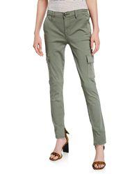 FRAME Le Service Cargo Skinny Pants - Green