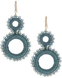 Lydell NYC - Double Wrap Drop Earrings - Lyst