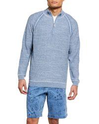 Tommy Bahama Men's Sandy Bay Reversible Half-zip Sweater - Blue