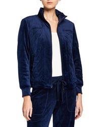 Laundry by Shelli Segal - Quilted Velour Jacket - Lyst