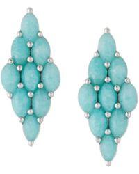 Elizabeth Showers - Honeycomb Post Earrings - Lyst