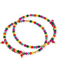 Panacea - Beaded Crystal Bracelets Set Of 2 - Lyst