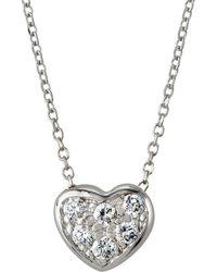 KC Designs 14k White Gold Brilliant Diamond Heart Necklace - Multicolour