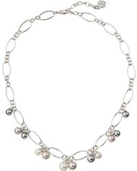 Majorica - Mixed Pearl Chain Necklace - Lyst