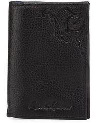 Robert Graham Men's Metropolis Embossed Leather Bi-fold Wallet - Black