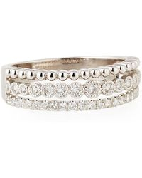 Neiman Marcus - Illusion-stacked Three-row Ring With Diamonds - Lyst