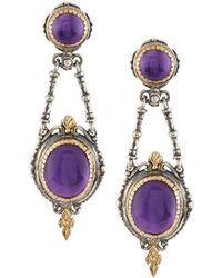 Konstantino Erato Floral Amethyst Doublet Drop Earrings 73GuLG6jhK