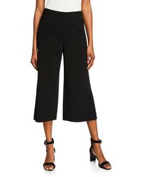 Lafayette 148 New York - Finesse Crepe Cropped Pants Black - Lyst
