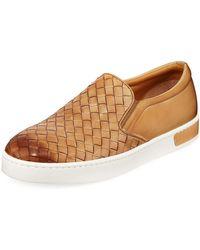 Neiman Marcus - Men's Noja Woven Leather Sneaker - Lyst
