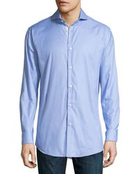 Neiman Marcus | Trim-fit Regular-finish Graphic-print Sport Shirt | Lyst