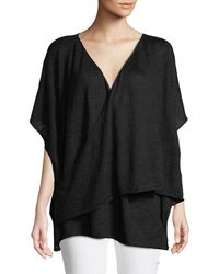 Eskandar - Cap-sleeve Crossover Pullover Sweater - Lyst