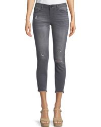Dex - Madison Low-rise Distressed Cropped Jeans - Lyst