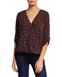 West Kei Leopard-print High-low Wrap Top - Multicolor