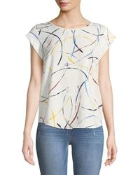 e07053994570d Joie - Rancher Cap-sleeve Printed Top - Lyst