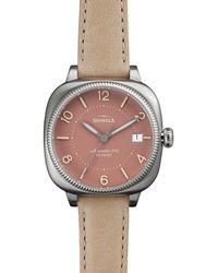 Shinola - 36mm Gomelsky Watch W/ Leather Strap - Lyst