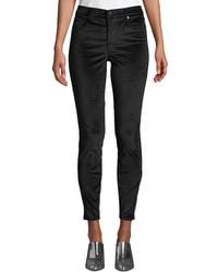 Blank NYC - Raven Feather Velvet Skinny Pants - Lyst