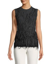 Michael Kors - Cashmere Feathered Sweater - Lyst