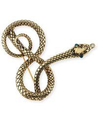 Lulu Frost Moorea Snake Pin - Metallic