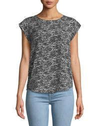 Joie - Rancher Cap-sleeve Printed Blouse - Lyst