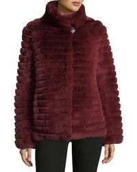 Gorski | Reversible Down & Fur Belted Puffer Coat | Lyst