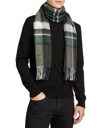 Tom Ford Plaid Wool Scarf - Green