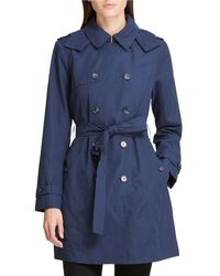 DKNY - Microfiber Belted Trench Coat - Lyst