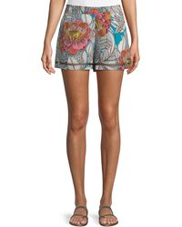 Trina Turk - Bubbly High-waist Floral Shorts - Lyst
