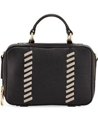 MILLY - Astor Small Whipstitch Satchel Bag - Lyst