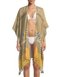 Raj - Mosaic-print Cotton Kimono W/ Tassel Hem - Lyst