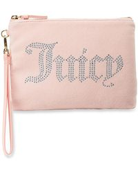 Juicy Couture - Velour Wristlet Wallet With Charger - Lyst e59d7c8df
