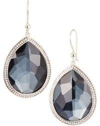 Ippolita - Lollipop® Stella Hematite & Diamond Drop Earrings - Lyst