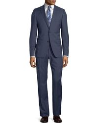 DKNY - Slim-fit Two-button Check-print Wool Suit - Lyst