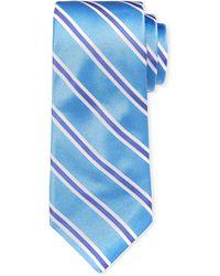 Ike Behar - Royal Oak Striped Silk Tie - Lyst