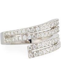 Neiman Marcus   18k Four-row Split Diamond Ring   Lyst