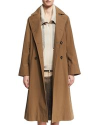 Brunello Cucinelli - Cotton Canvas Double-breasted Trenchcoat - Lyst