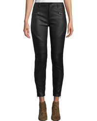Blank NYC - Faux-leather Skinny Moto Pants - Lyst