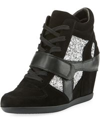 Ash - Bowie Wedge Sneaker With Glitter Trim - Lyst