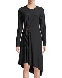 Love Scarlett - Tie-waist Asymmetric Midi Dress - Lyst