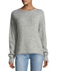 Kendall + Kylie - Tie-back Alpaca-blend Sweater - Lyst