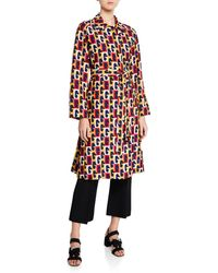 Gucci - G Sequence Printed Silk Belted Coat - Lyst