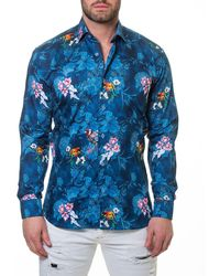 Maceoo - Shaped-fit Blossom Sport Shirt - Lyst