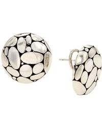 John Hardy Medium Kali Button Earrings - Metallic