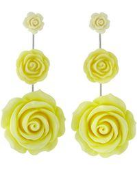 DANNIJO Beck Rose Drop Earrings Yellow